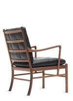 Colonial胡桃木真皮椅