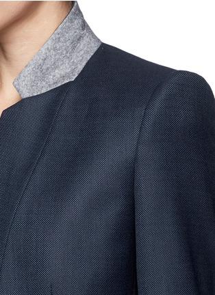 Detail View - Click To Enlarge - Stella McCartney - Inverted collar blazer