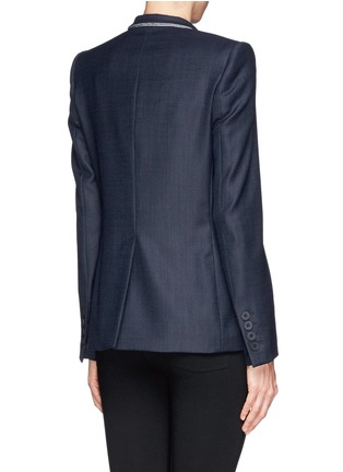 Back View - Click To Enlarge - Stella McCartney - Inverted collar blazer