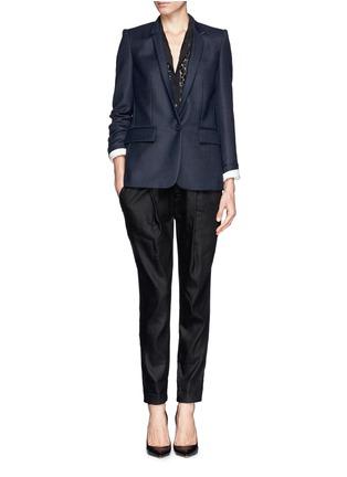 Figure View - Click To Enlarge - Stella McCartney - Inverted collar blazer