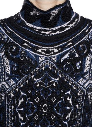 Detail View - Click To Enlarge - Emilio Pucci - 'Suzani' Turtleneck Knit Dress