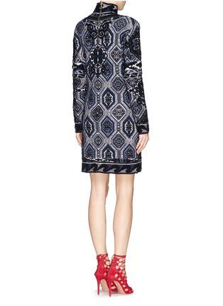 Back View - Click To Enlarge - Emilio Pucci - 'Suzani' Turtleneck Knit Dress