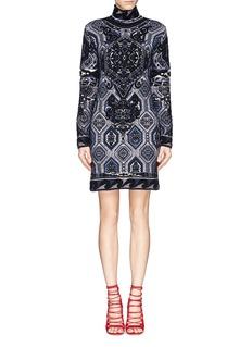 EMILIO PUCCI'Suzani' Turtleneck Knit Dress