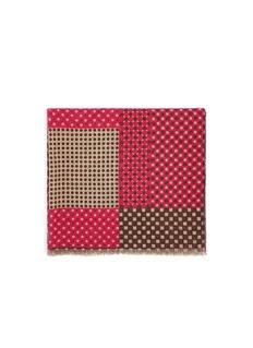 FRANCO FERRARIDot square pattern cashmere scarf