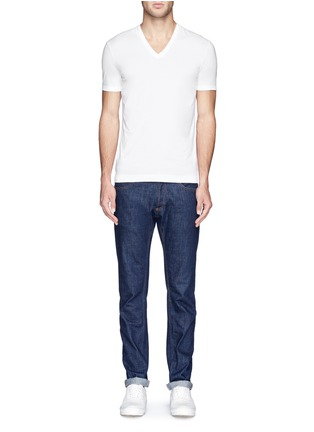 Figure View - Click To Enlarge - Dolce & Gabbana - Stretch cotton-blend undershirt