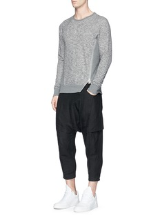 Den Im By Siki Im Split zip front panel sweatshirt