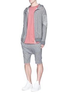 Den Im By Siki ImContrast sleeve pocket zip hoodie