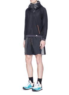 Adidas X KolorReflective 3-Stripes overlay track shorts