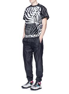 Adidas X KolorZebra print mesh overlay T-shirt