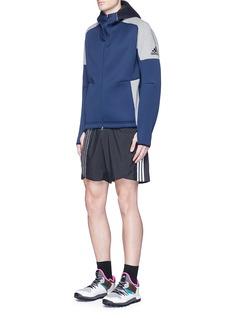 Adidas X Kolor'Z.N.E.' mesh overlay zip hoodie