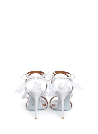 Back View - Click To Enlarge - Aquazzura - 'Floral' 3D satin floral bridal sandals