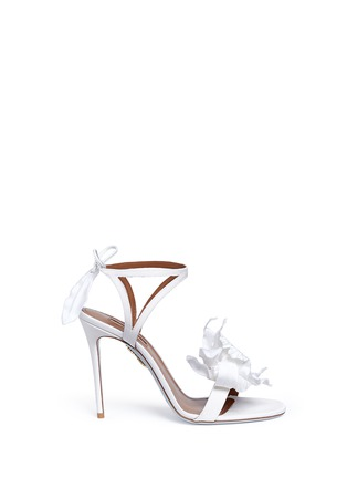 Main View - Click To Enlarge - Aquazzura - 'Floral' 3D satin floral bridal sandals