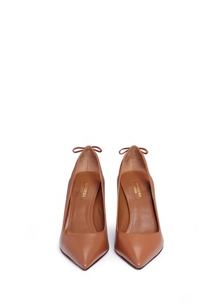 Front View - Click To Enlarge - Aquazzura - 'Forever Marilyn 85' tassel leather pumps