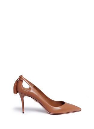 Main View - Click To Enlarge - Aquazzura - 'Forever Marilyn 85' tassel leather pumps