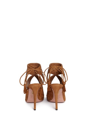 Back View - Click To Enlarge - Aquazzura - 'Sexy Thing Folk 105' leather embroidered suede sandals