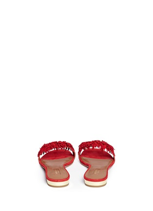 Back View - Click To Enlarge - Aquazzura - 'Wild Thing' fringe suede slide sandals