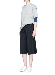 Adidas3-Stripes colourblock long sleeve T-shirt