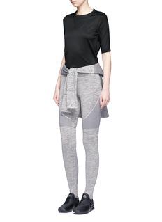 Nike'Sportswear Bonded' mesh sleeve cotton T-shirt