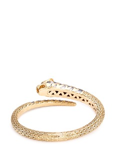 John Hardy Diamond topaz 18k yellow gold Macan bangle