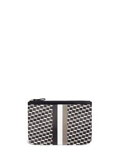 Pierre HardyCube stripe print large zip pouch