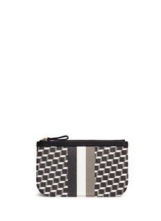 Pierre HardyCube stripe print small zip pouch