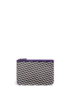 Pierre Hardy'Perspective' cube print zip pouch