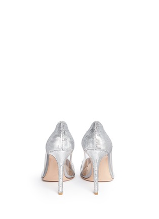 Back View - Click To Enlarge - Gianvito Rossi - 'Palladium Plexi' clear PVC sequin pumps