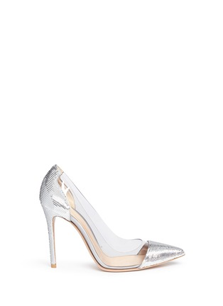 Main View - Click To Enlarge - Gianvito Rossi - 'Palladium Plexi' clear PVC sequin pumps