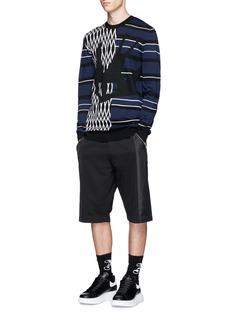 McQ Alexander McQueenStripe swallow zigzag intarsia wool sweater