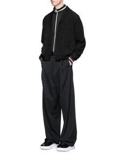 McQ Alexander McQueenStripe cuff blouson shirt jacket