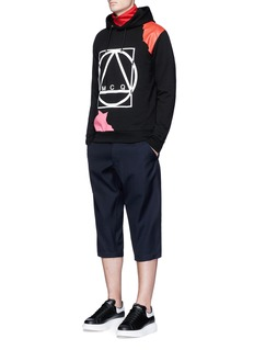 McQ Alexander McQueenAbstract glyph logo print hoodie