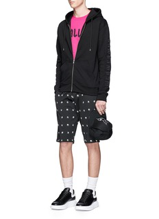 McQ Alexander McQueenLogo embroidered French terry zip hoodie