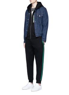 McQ Alexander McQueenGraphic logo print zip hoodie