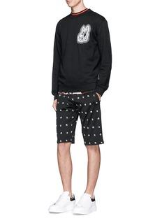 McQ Alexander McQueenSwallow intarsia sweat shorts