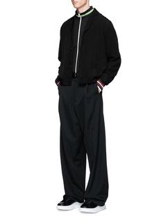 McQ Alexander McQueenLogo print stripe zip jacket