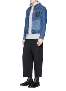McQ Alexander McQueen Cropped virgin wool jogging pants
