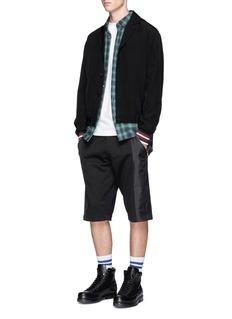 McQ Alexander McQueenContrast panel drawstring shorts