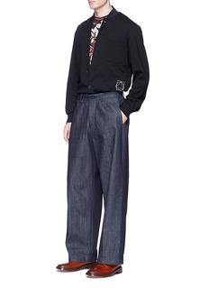 McQ Alexander McQueenStripe hem logo print blouson jacket