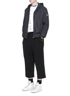 McQ Alexander McQueenContrast stripe cuff zip hoodie