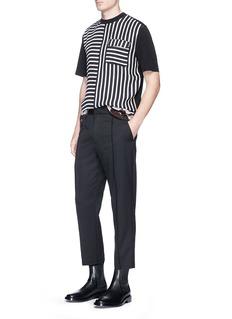 McQ Alexander McQueenBemberg stripe front crepe T-shirt