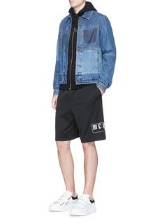 McQ Alexander McQueenLogo print mesh jersey shorts