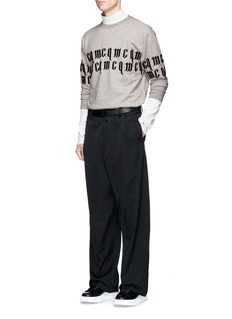 McQ Alexander McQueen Logo embroidered French terry cotton sweatshirt