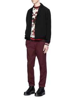 McQ Alexander McQueen Floral print cotton French terry sweatshirt