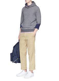 JohnundercoverContrast sleeve underlay hoodie