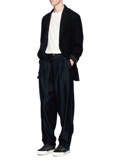 Song for the Mute Pleated wide leg pants