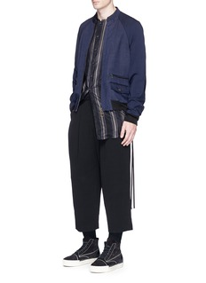 Song for the MuteContrast sleeve bomber jacket