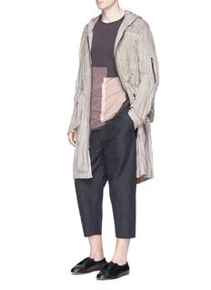 Ziggy ChenCropped ramie-cotton pants