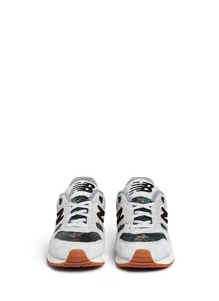 Front View - Click To Enlarge - New Balance - '530 Floral Ink' print mesh suede sneakers