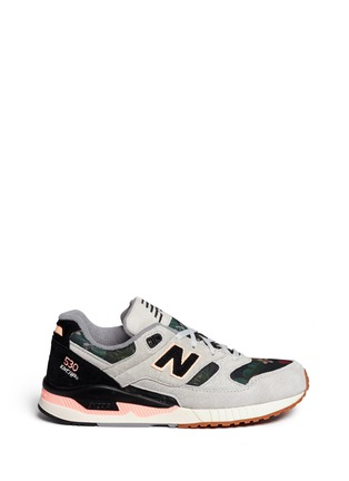 Main View - Click To Enlarge - New Balance - '530 Floral Ink' print mesh suede sneakers