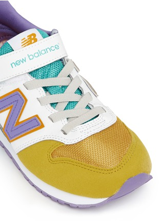 Detail View - Click To Enlarge - New Balance - '996' leather trim kids sneakers